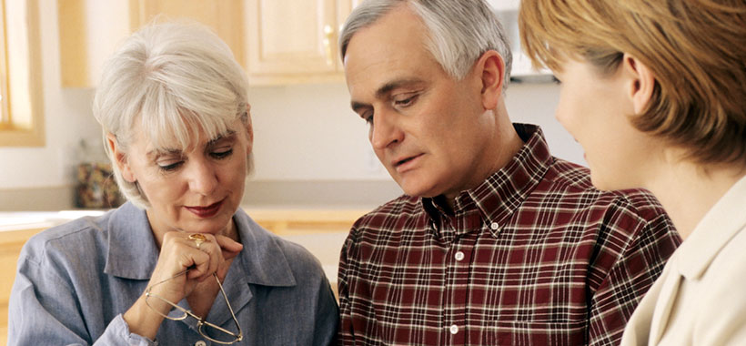 10 Tips for Good Brain Health, middle aged couple review files