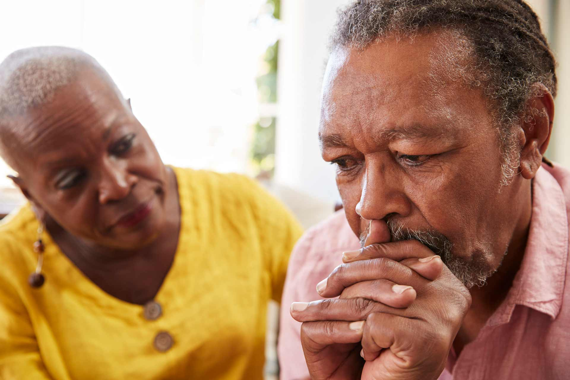 Caring giving spouse managing the impacts of her husband's dementia diagnosis
