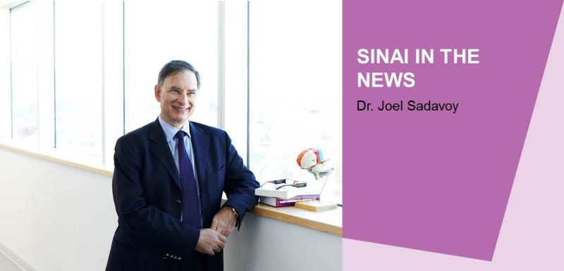 Sinai in the News: Dr. Joel Sadavoy & a Caregiver Interviewed by CTV News
