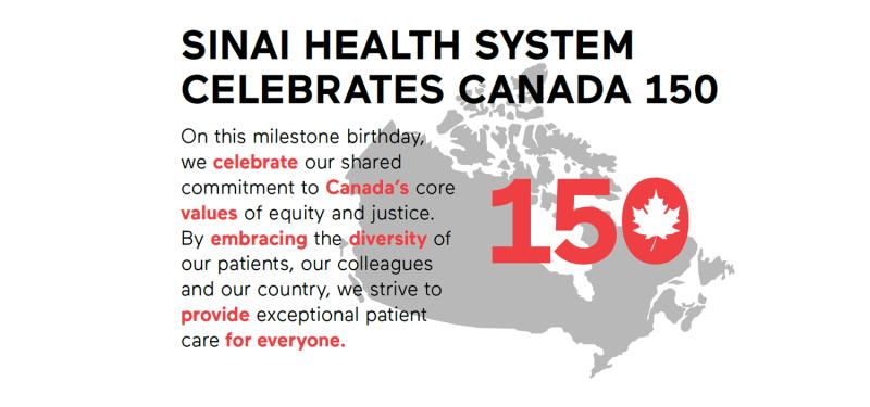 Sinai Health System Celebrates Canada 150
