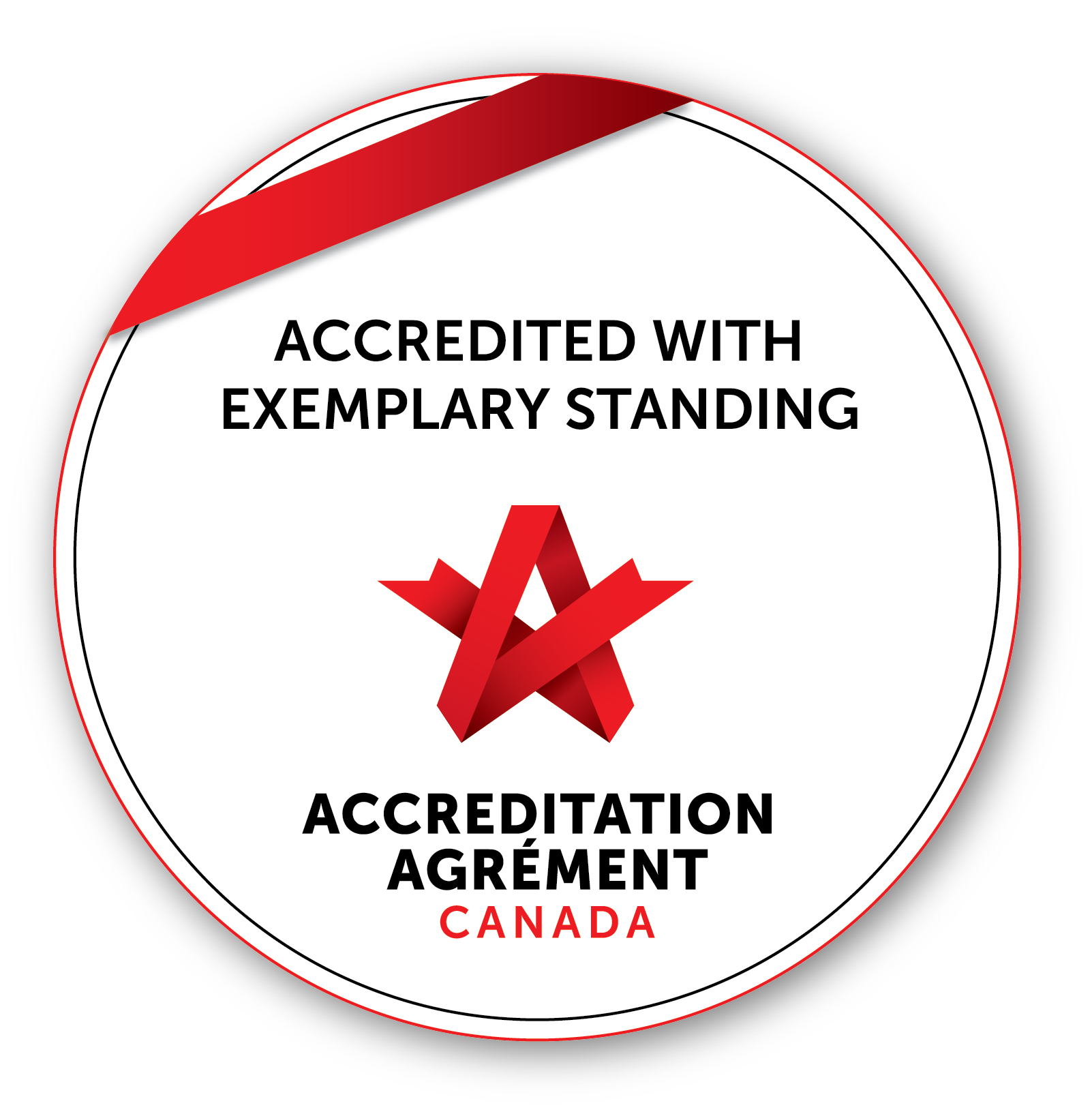 Accreditation with Exemplary Standing Seal