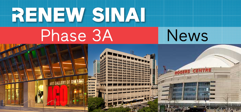 What do Mount Sinai Hospital, the AGO and the Rogers Centre