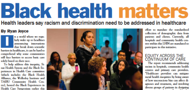 Sinai Health in the News: Black Health Matters