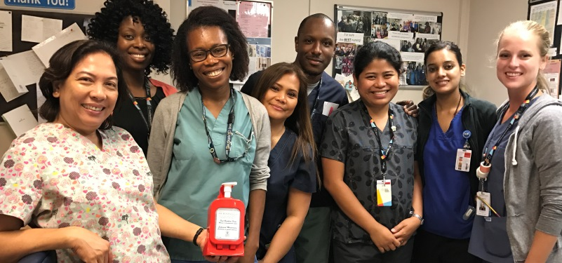 Staff leveraging the power of technology to improve hand hygiene practices