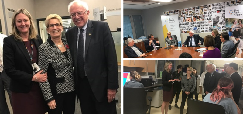 Sinai Health in the News: Kathleen Wynne and Bernie Sanders visit Mount Sinai Hospital