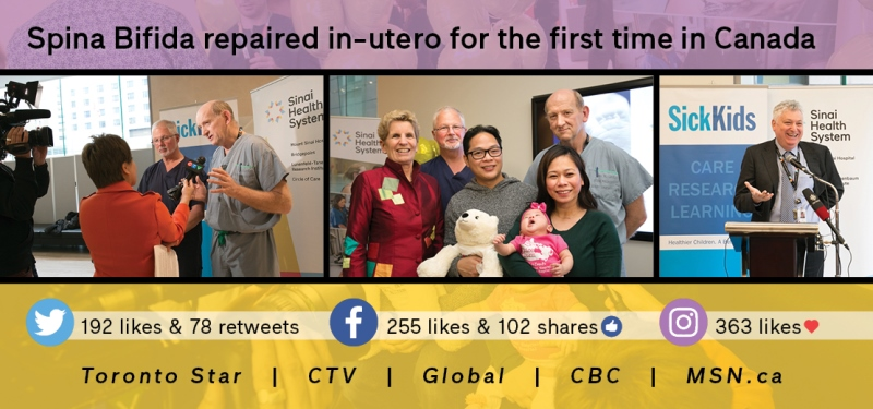 Celebrating the first in-utero spina bifida surgery in Canada