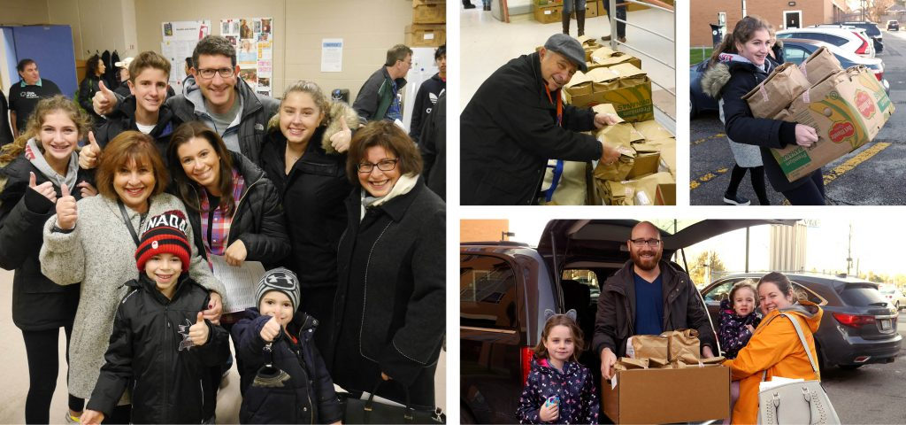 Volunteers assist with special delivery to Kosher Meals on Wheels Holocaust survivors.