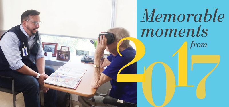 Memorable moments from 2017: Virtual Reality reconnects patients with their lives outside of the hospital