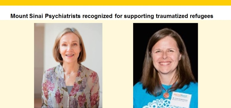 Mount Sinai Psychiatrists recognized for supporting traumatized refugees
