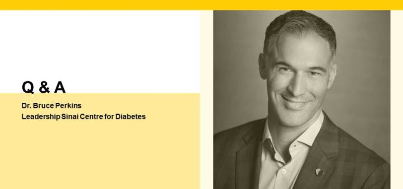 Dr. Bruce Perkins takes on Directorship of Leadership Sinai Centre for Diabetes