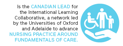 is the canadian lead for the international learning collaborative, a network led by the universities of Oxford and Adelaide to advance Nursing practice around fundamentals of care