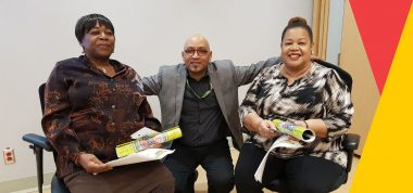 Speakers from Taibu addressed SHS staff at the most recent Healthy Ageing 101 session.
