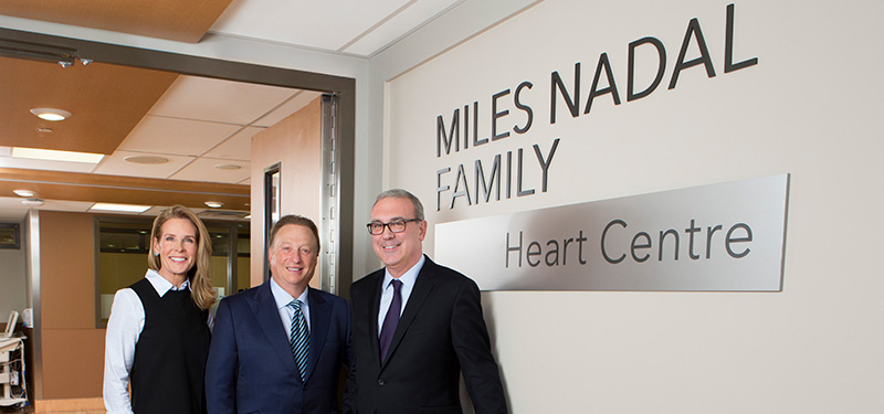 Dr. Gary Newton, President and CEO with philanthropists Miles and Kelly Nadal