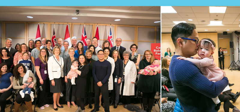 Celebrating the official announcement of the Ontario Fetal Centre at Mount Sinai Hospital