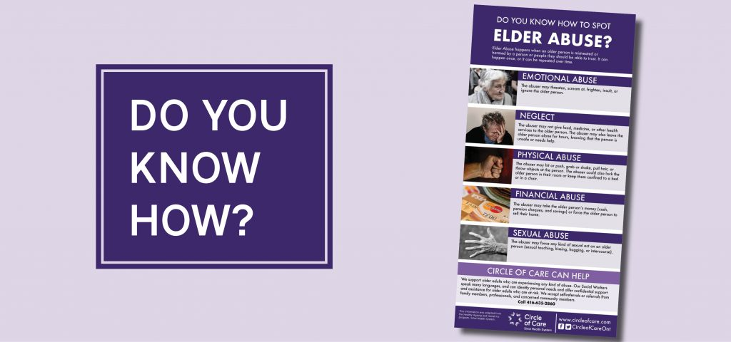 Speaking Out on Elder Abuse