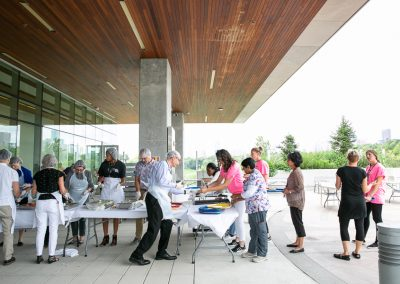 Images of patients and families enjoying bbq