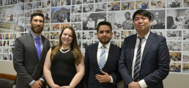 Photo of 4 mba interns
