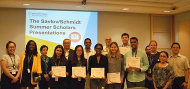 Savlov Schmidt Summer Scholars