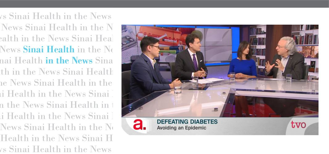 In the news: Dr. Zinman on The Agenda