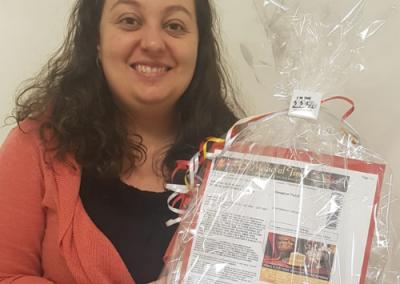 Bridget Lauricella holding prize