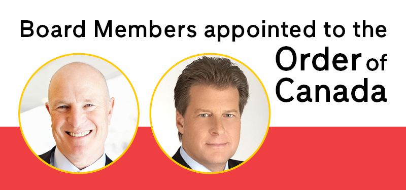 Sinai Health's Board of Directors Brent Belzberg and Jay Hennick appointed to the Order of Canada.