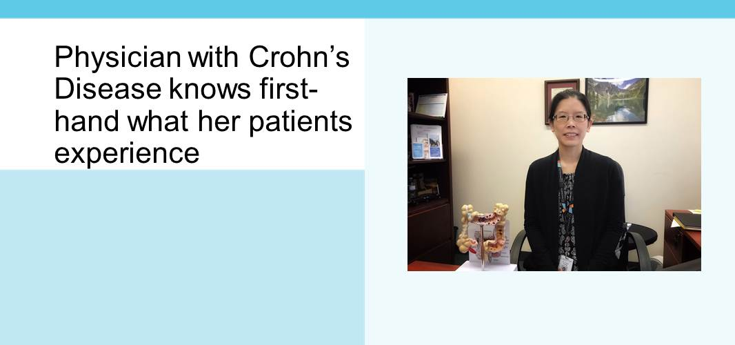 Physician with Crohn's Disease knows first-hand what her patients experience