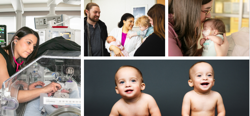 collage representing Women's and Infants' Health at Sinai Health