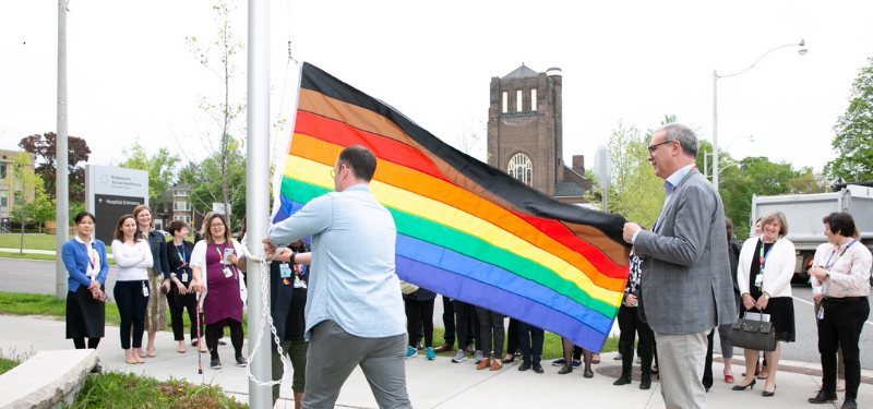 raising the pride flag