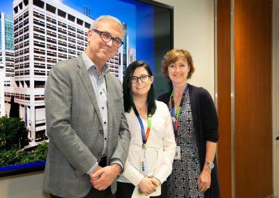 Dr. Gary Newton with Diamond Rose Torno Bursary recipient Krista Schleicher (centre) and Lynn Ardizzi
