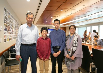 Adnan Moinuddin with Dad, brother and mom Asfia Sultana