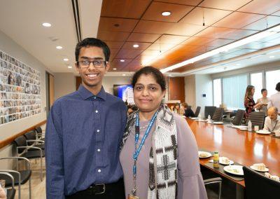 Adnan Moinuddin with mom Asfia Sultana