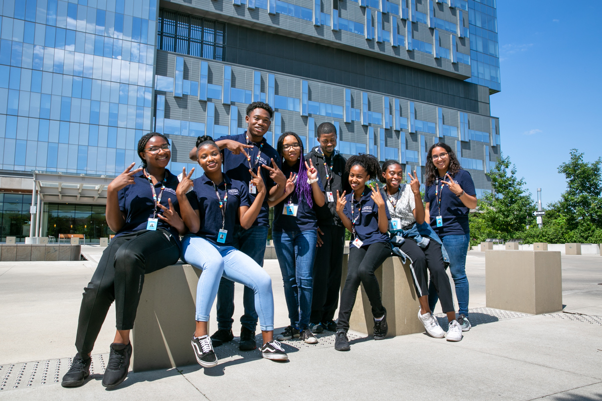 The students on their final day of the SMP program at Bridgepoint.