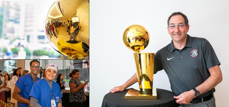 Larry O'Brien NBA Championship Trophy visits Mount Sinai Hospital