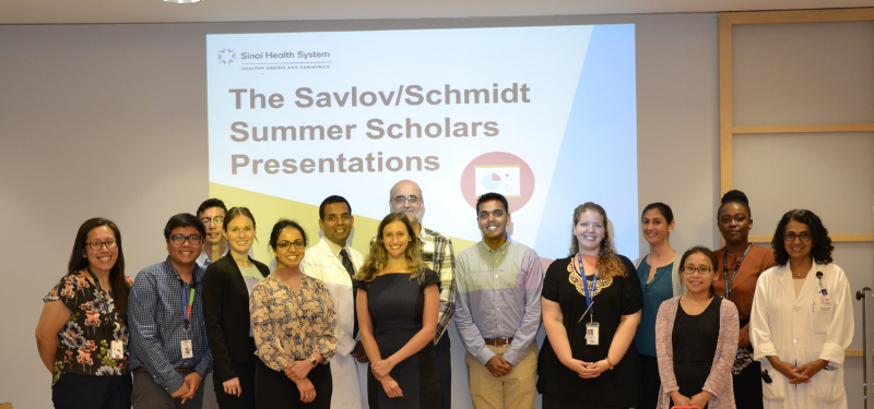 The Savlov/Schmidt Summer Scholars share their research