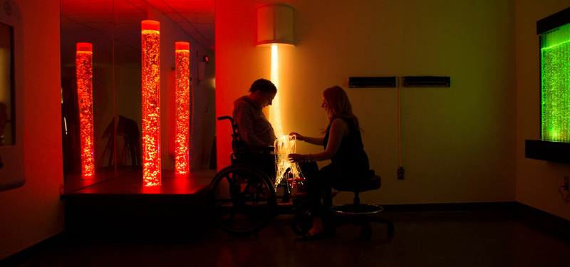 Bridgepoint's Snoezelen Room offers unique therapeutic space for discovery