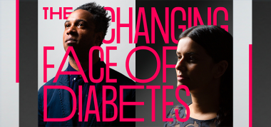 Header image with text Changing Face of Diabetes