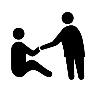 icon of a person helping other