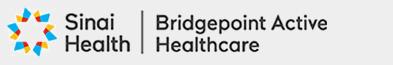 Sinai Health logo   Bridgepoint Active Health Care
