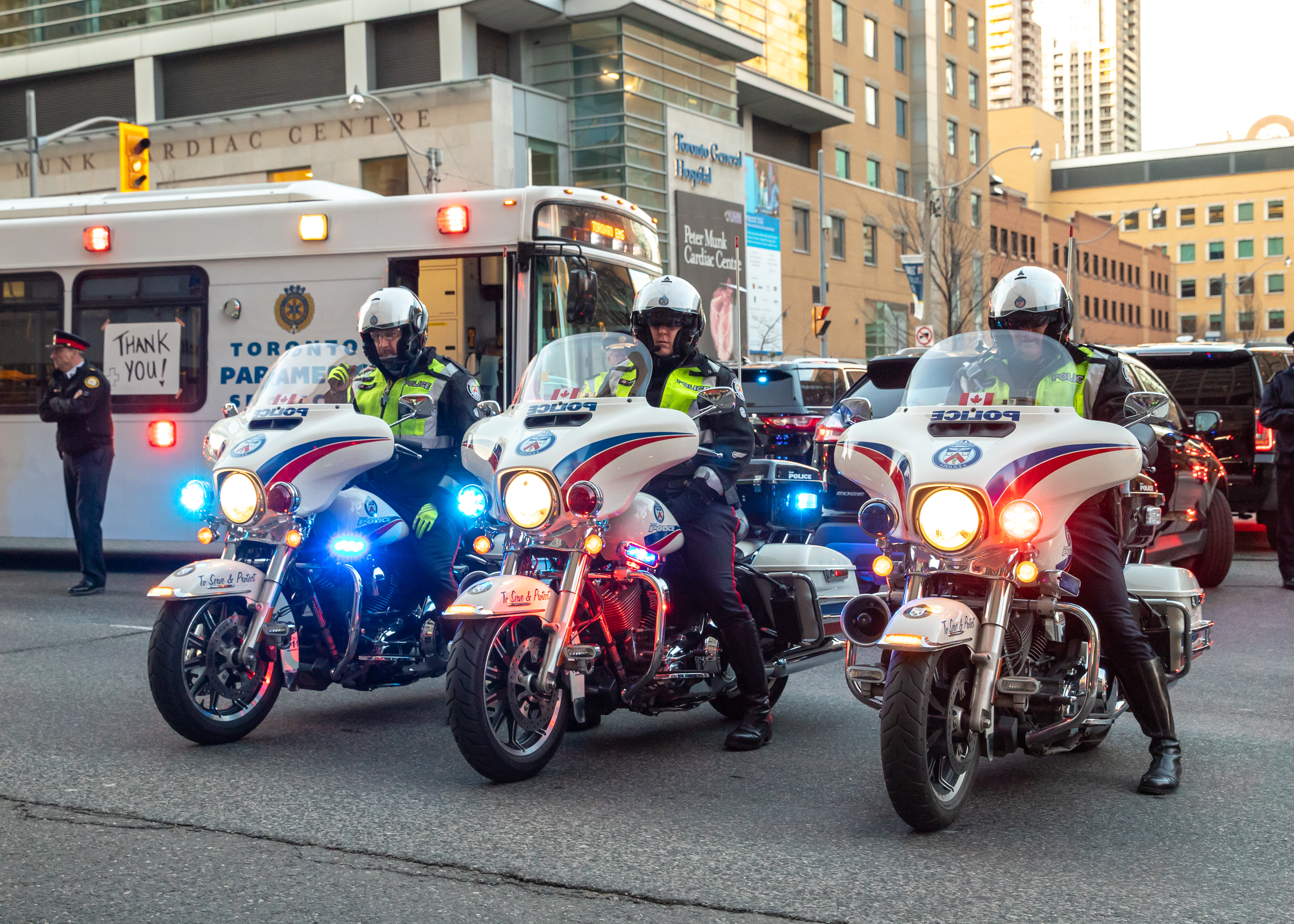 Motorcycles at TPS Parade