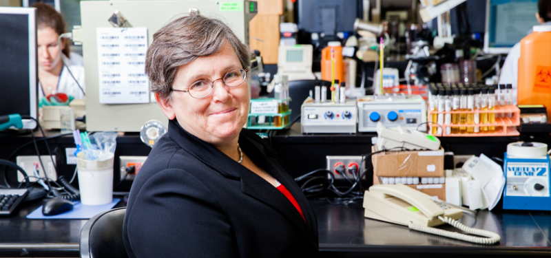 Dr. Allison McGeer in workspace