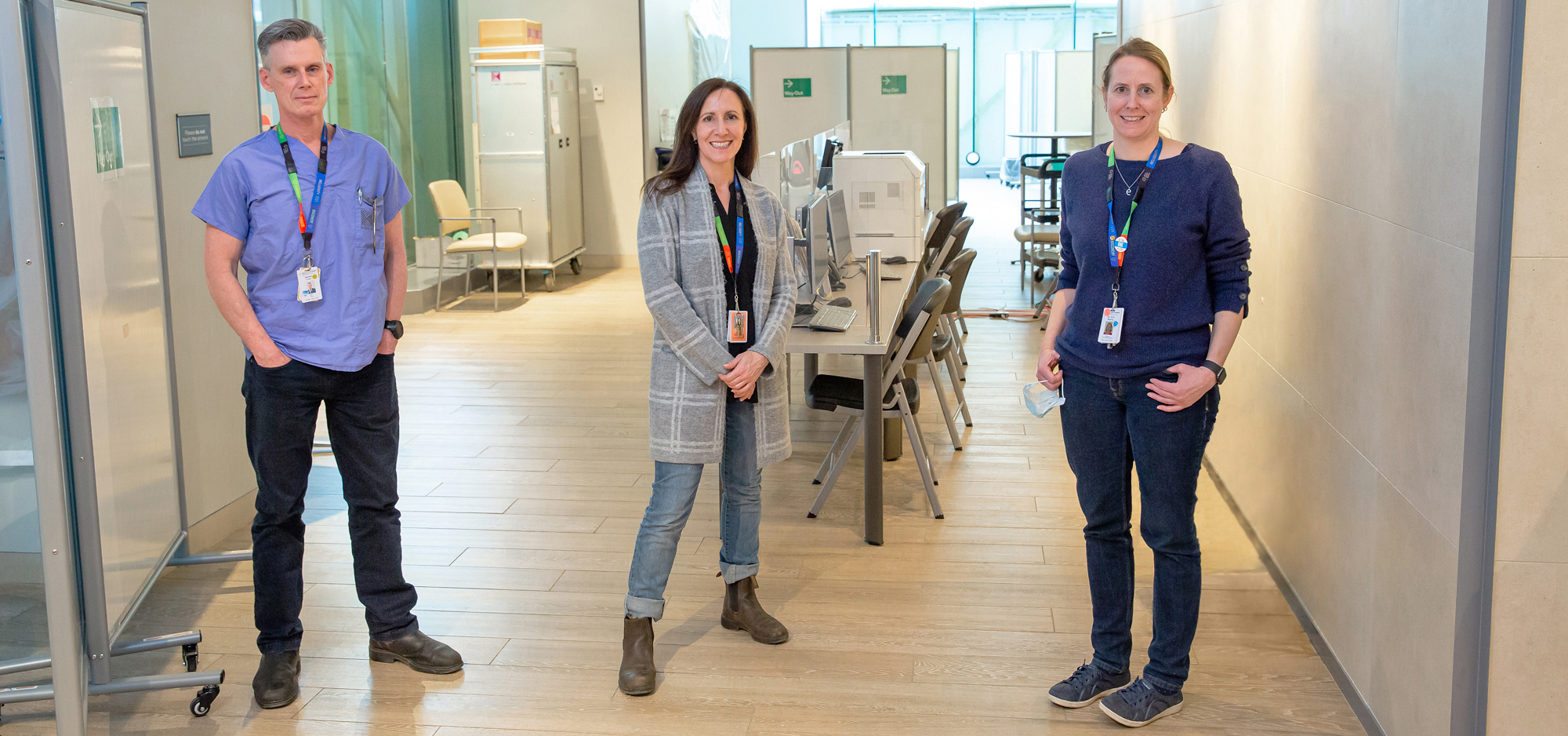 photo of Dr. Erin Bearss, Tanya McDonald and James Clancy