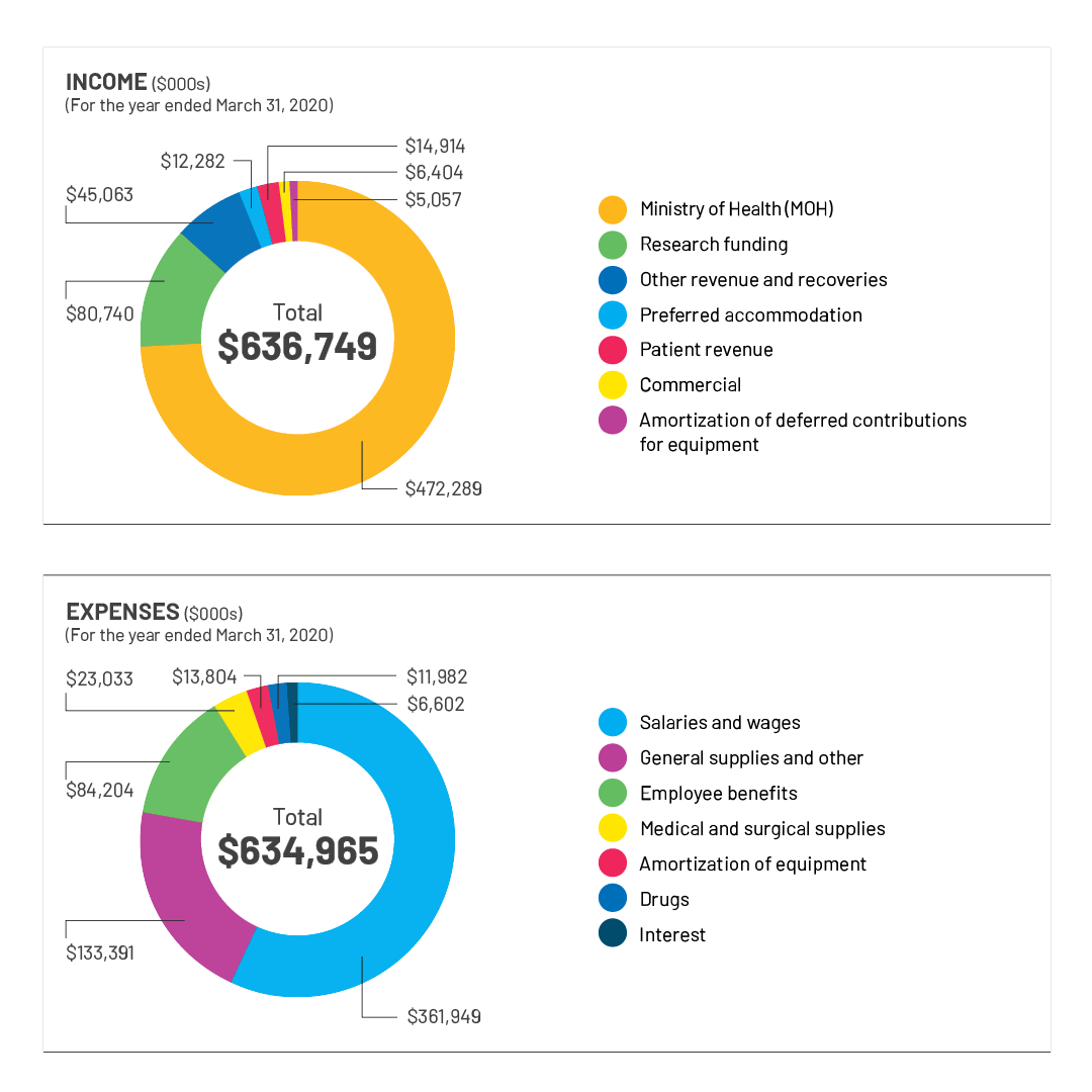 Sinai Health Financials Chart