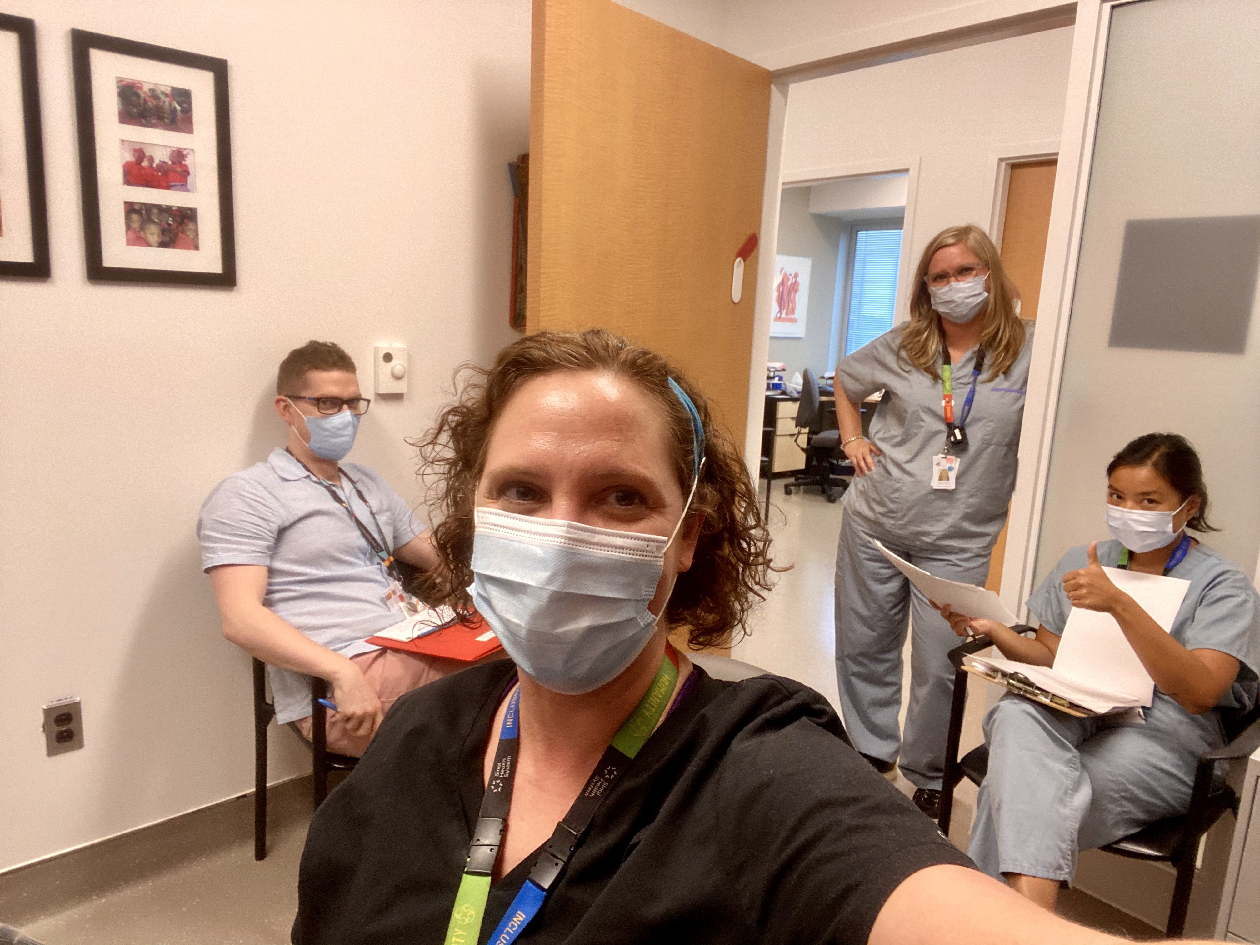 Four employees at the pain management clinic