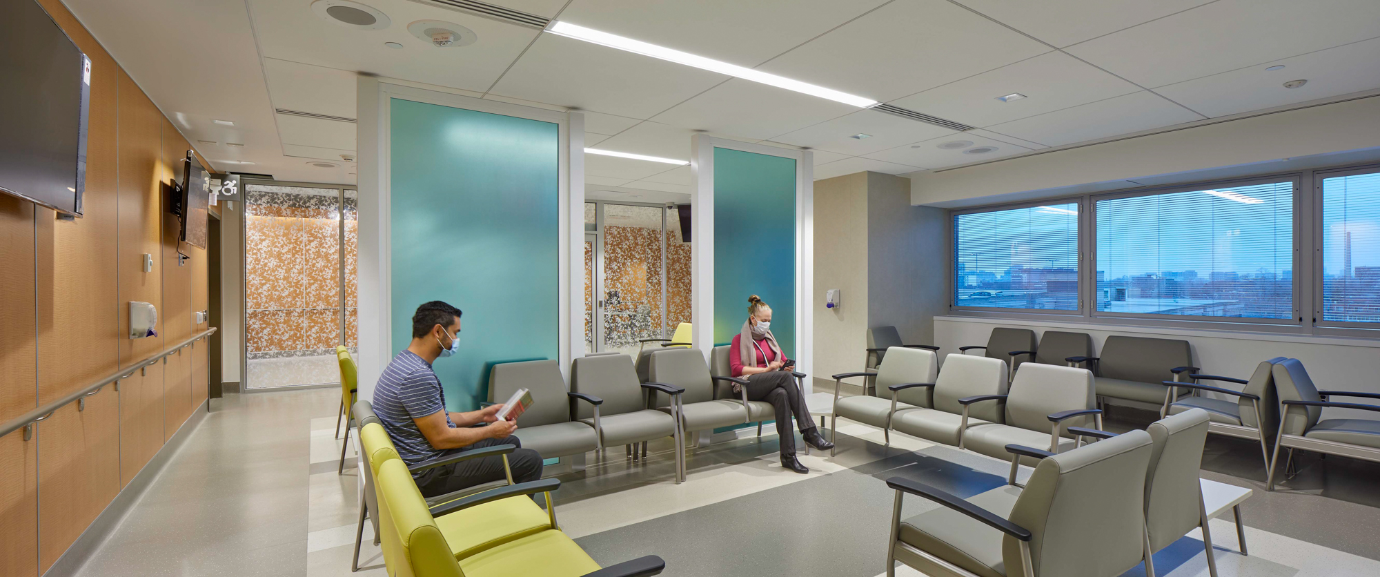 Photo of patient and family waiting lounge
