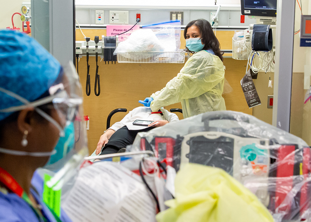 Employees in the Mount Sinai Hospital Emergency Department