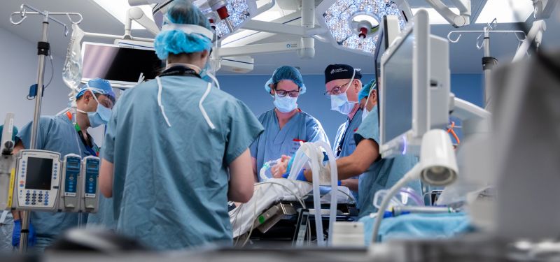 Image of surgeons in new operating room