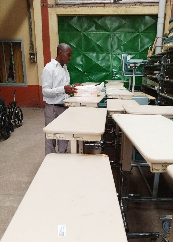 Hospital equipment in Cameroon