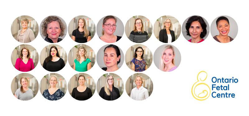 Collage of the Ontario Fetal Centre's nurse sonographers