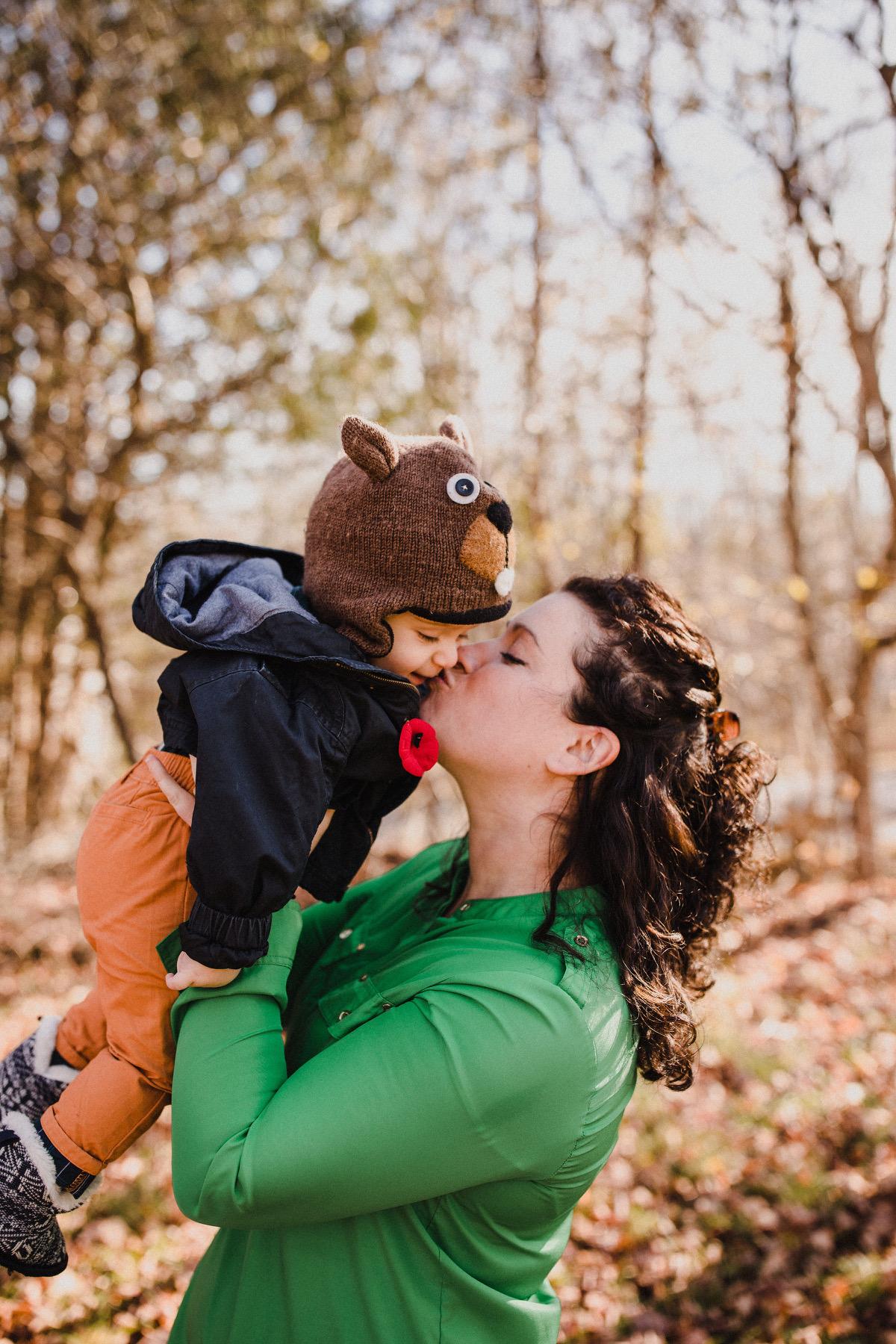 Alana Robertson poses with her son Deacon