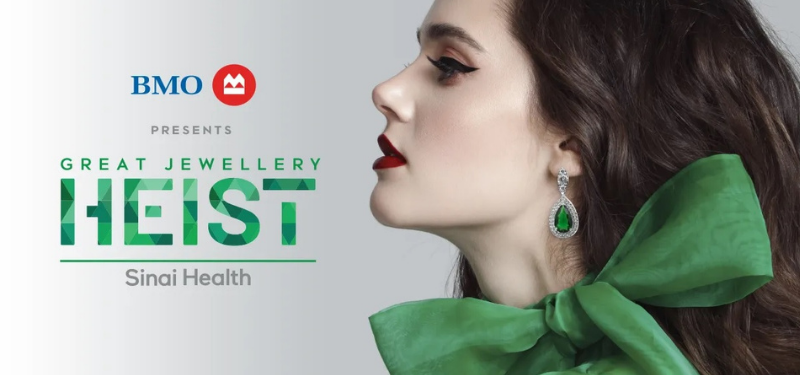 Glitz, glamour to take centre stage at Sinai Health's 10th Great Jewellery Heist, presented by BMO
